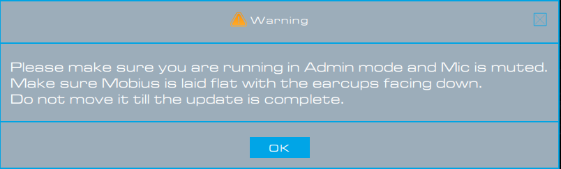 audeze mobius firmware updater not connecting